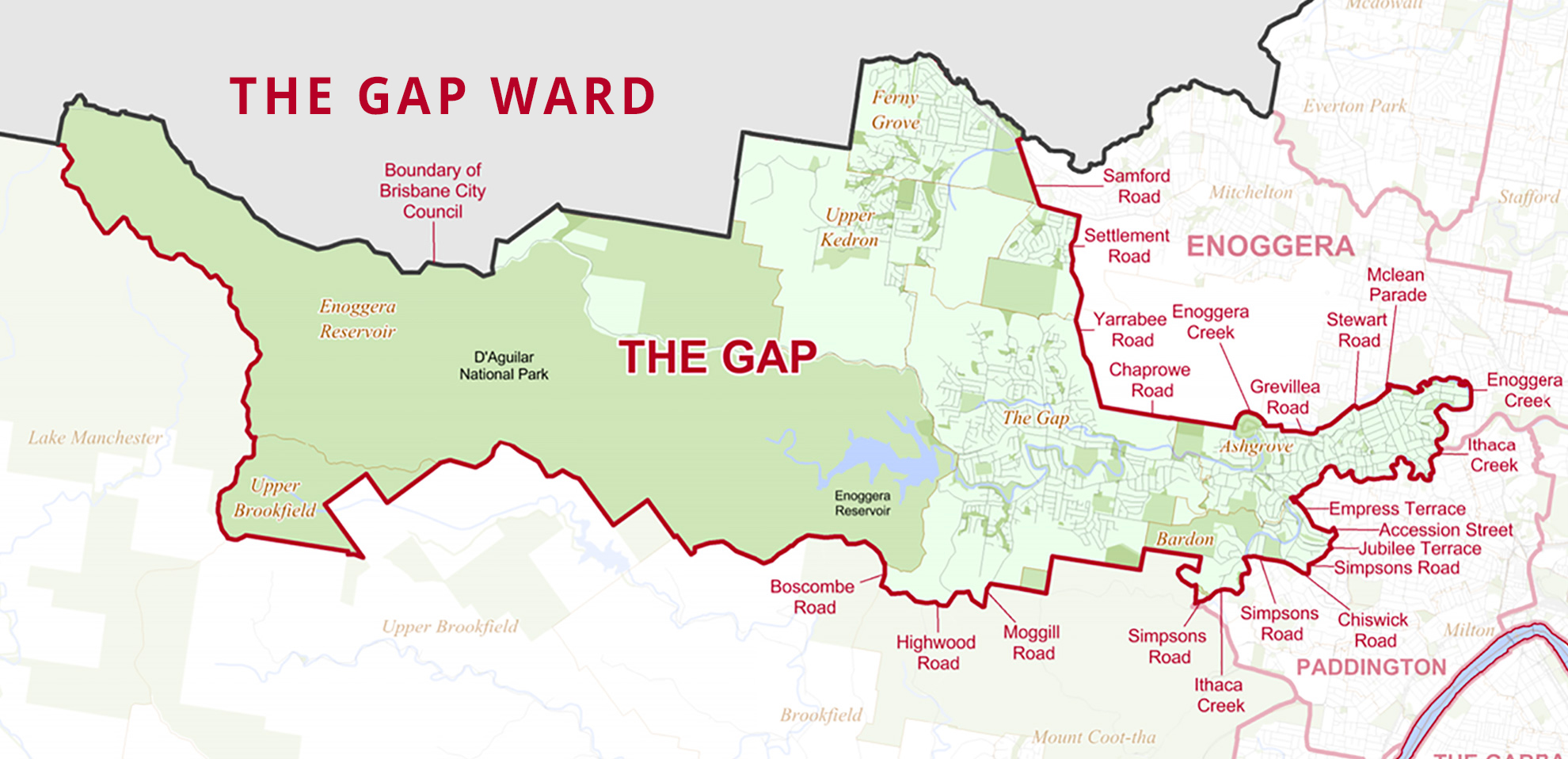 The Gap Ward map